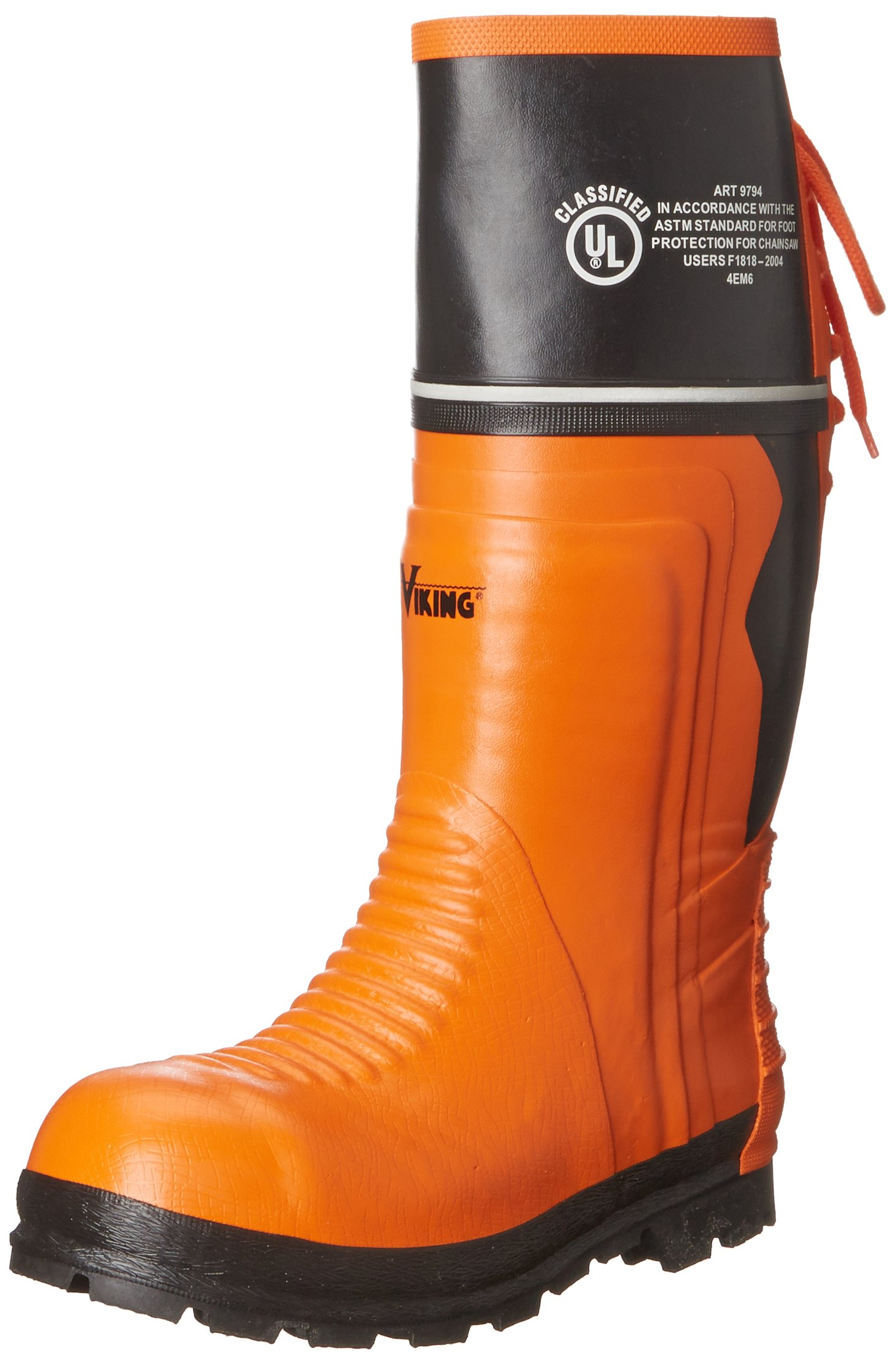 Viking Footwear Class 2 Chainsaw Boot,Orange/Black,10 M US