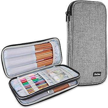 ProCase Bolsa Crochet Ganchillos (Bolsa Sola Sin Accesorios) para Agujas 11