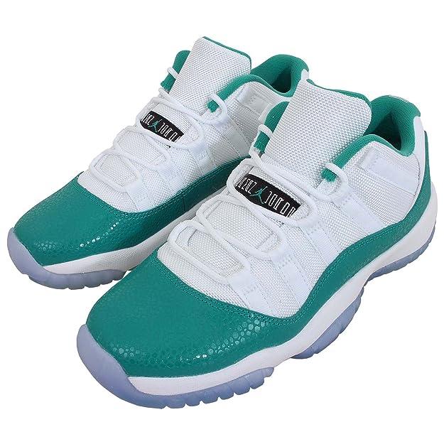 Amazon.com | Air Jordan 11 Retro Low GG White/ Turbo Green-Volt ice Size 7 Y | Basketball