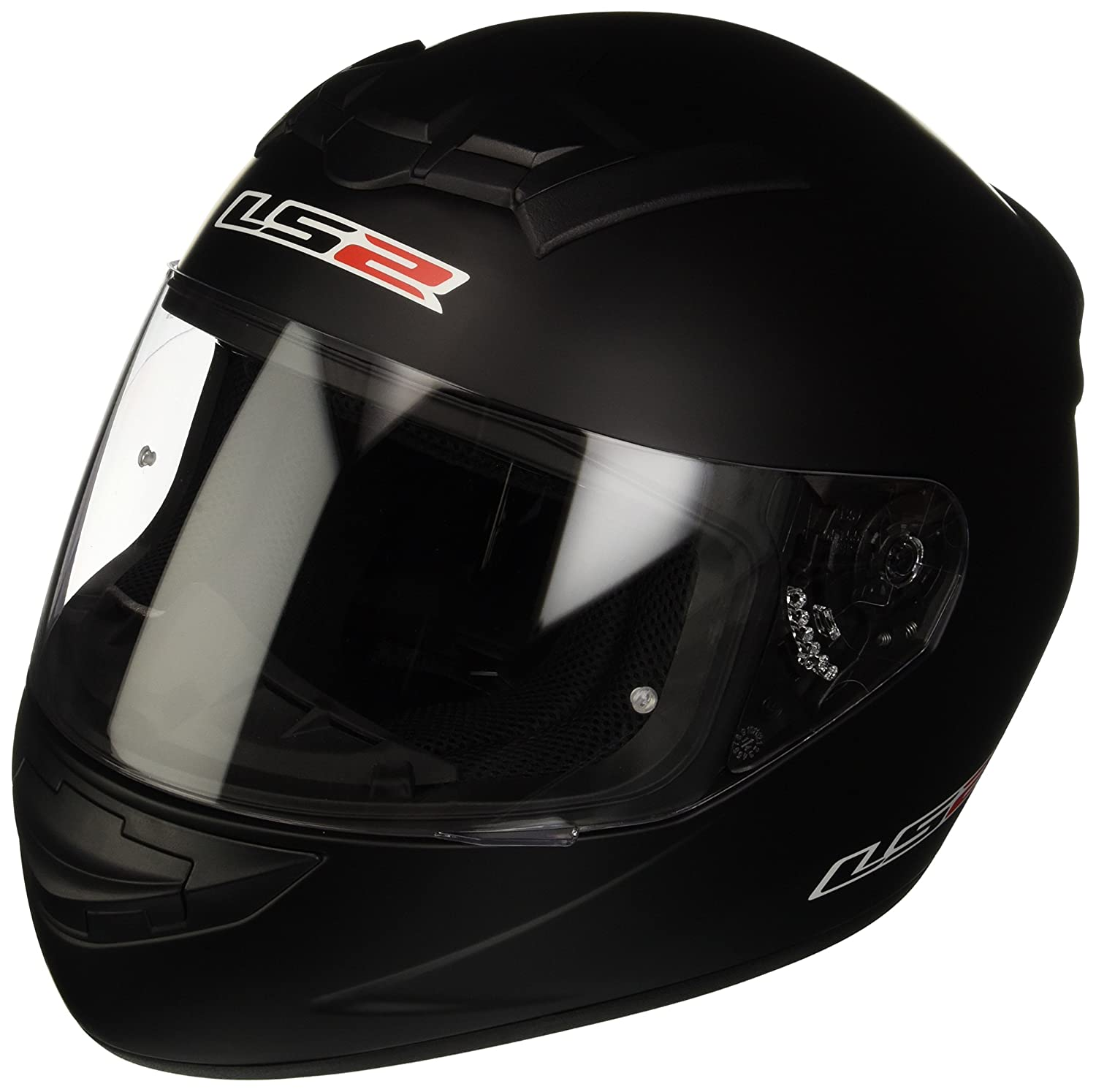 Amazon.es: LS2 103521011M FF352 Casco Rookie Solid, Color Negro Mate, Tamaño M