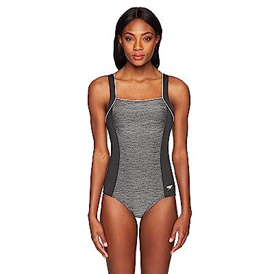 Amazon.com : Speedo Women's Endurance+ Texture Square Neck one Piece Swimsuit : Clothing