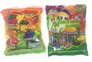 2 Packs Of Fruity's Jelly Candies - 1 Jelly Ice Bar and 1 Jelly Fruit Shaped Candies, Bundle of 2