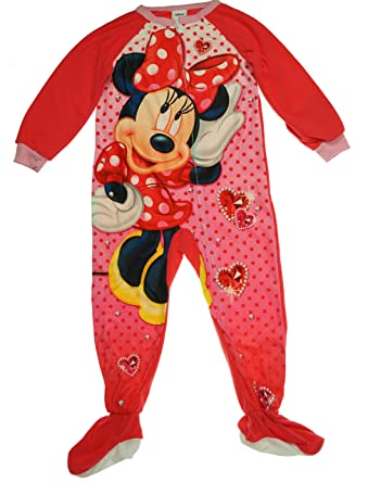 b14d2f457a Amazon.com  Disney Mouse Girls  One-Piece Footed Blanket Sleeper ...
