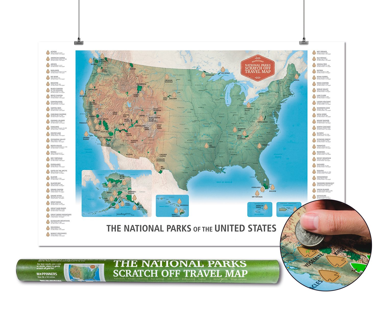 The national parks scratch off travel map usa by mappinners ebay description the definitive scratch off travel map for national parks sciox Gallery