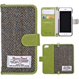 iPhone 6S Wallet Case, MONOJOY Harris Tweed Handmade Flip Folio Case Wallet Book Cover with Credit Card Slots, Magnetic Closure for iPhone 6/6S 4.7 inch (Green)