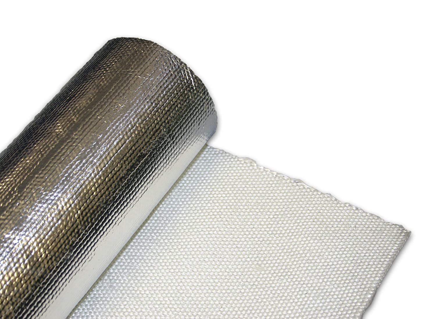 Exhaust/Engine Turbo Heat Shield Wrap Mat 1m x 500mm - Aluminised glass fibre cloth Camthorne