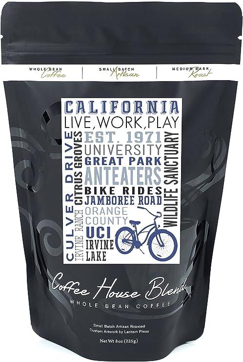 California y bicicleta icono – Tipografía, 8oz Coffee Bag: Amazon ...