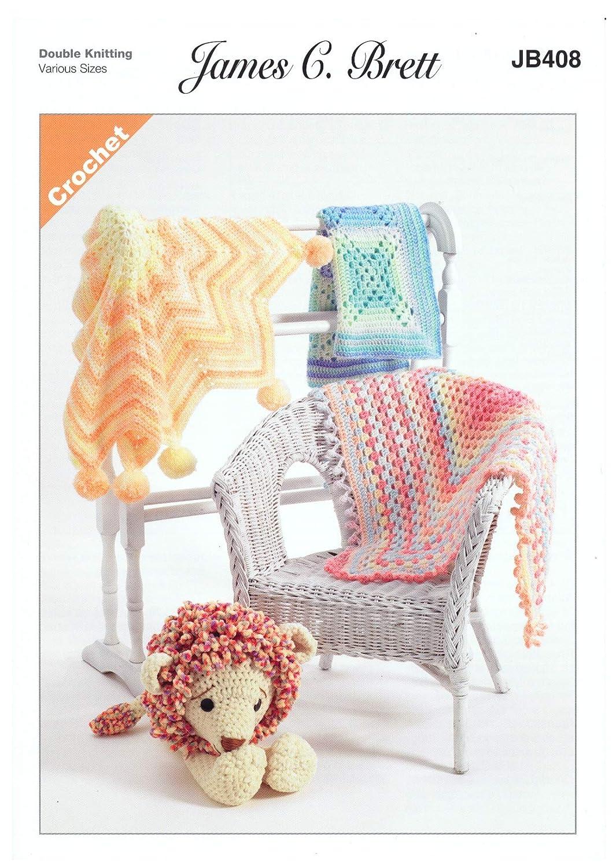 Amazon James Brett Double Knit Crochet Pattern Star Blanket