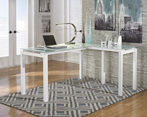 FurnitureMaxx Baraga White L-Shape Home Office Desk