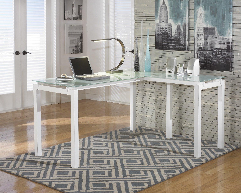 Amazon com baraga white l shape home office desk w file cabinet kitchen dining