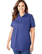 Woman Within Women's Plus Size Perfect Polo Shirt