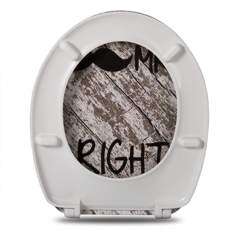 WOLTU Sedile WC Copriwater Universale Chiusura Ammortizzata Soft Close Toilet Seat Bagno in Duroplast Antibatterico
