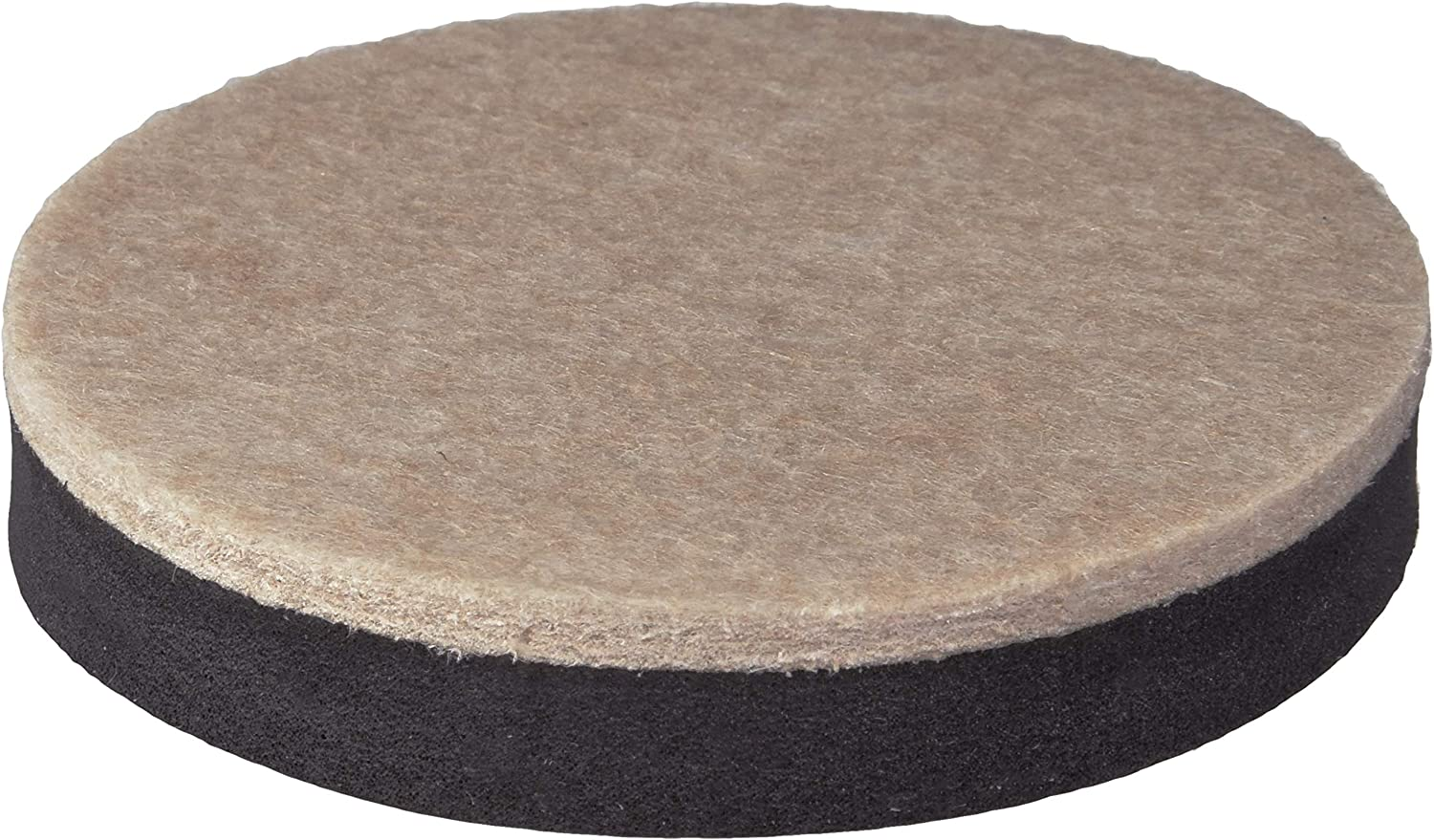 Shepherd Hardware 9407 3-1/2-Inch Reusable, Round, Felt Furniture Slider Pads, 4-Pack
