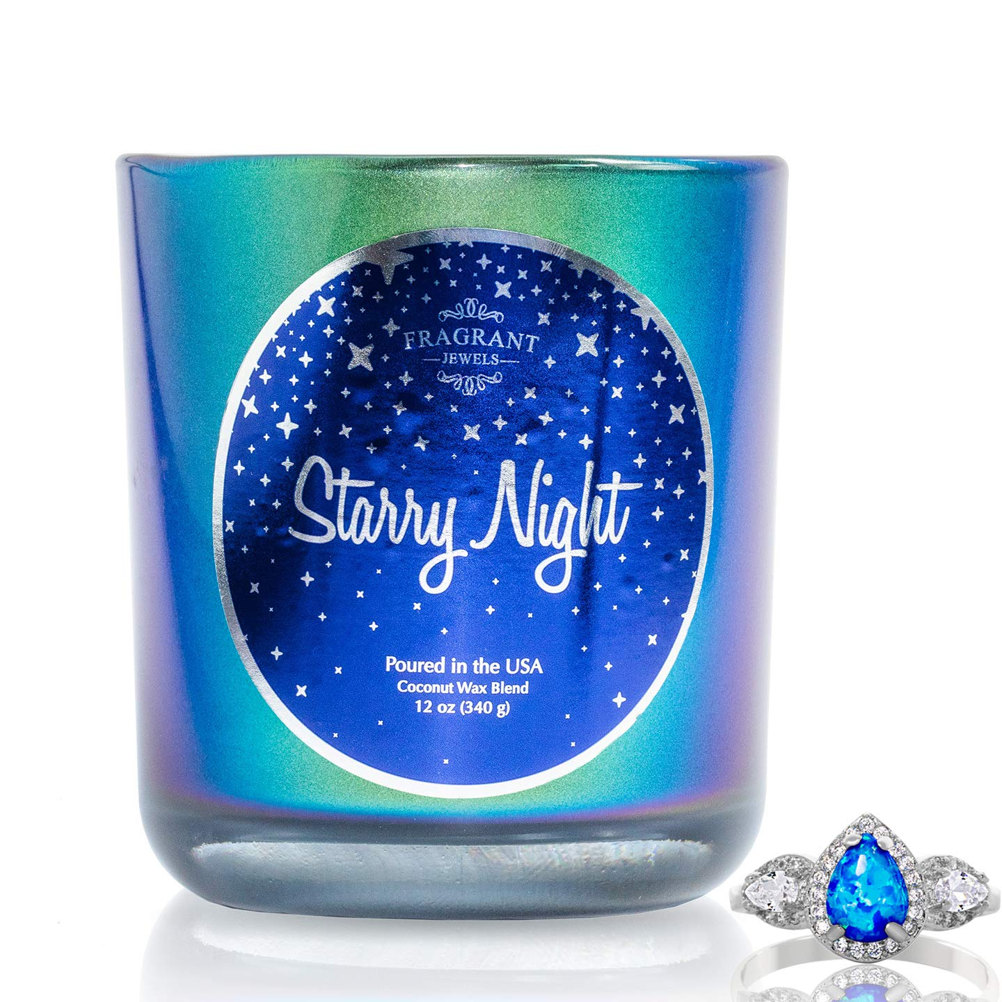 Fragrant Jewels Starry Night Jewel Candle with Collectible Rings (Size 5-10) by Fragrant Jewels (Image #1)