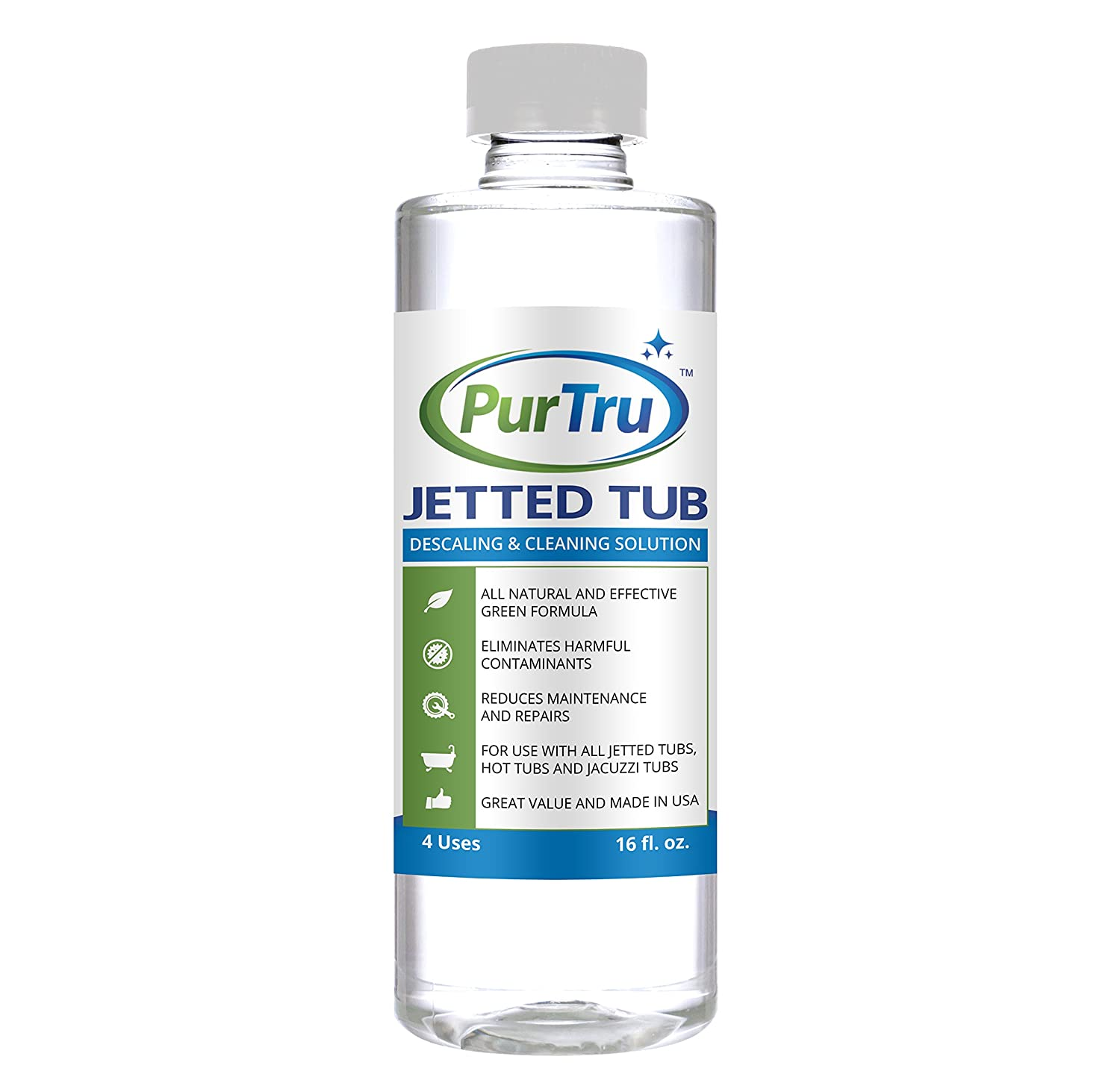 Amazon.com: Jetted Tub and Plumbing System Cleaner - All Natural and ...
