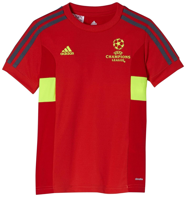 adidas Climalite - Camiseta de manga corta para niño, diseño de la UEFA Champions League rojo Hi-res Red F13/lead/elect Talla:176: Amazon.es: Deportes y ...