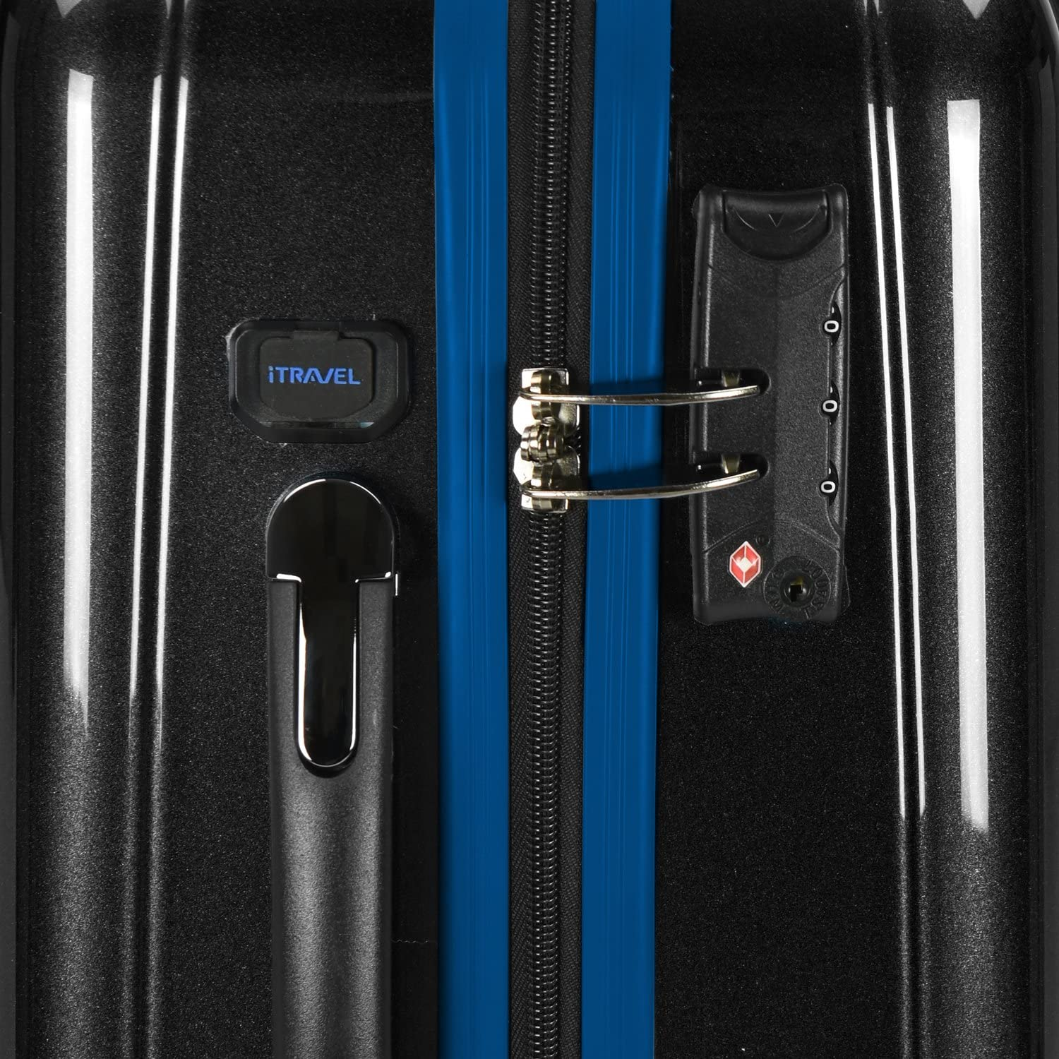 Traveler Ez-Charge Spinner Luggage with USB Port and TSA Lock U.S Black
