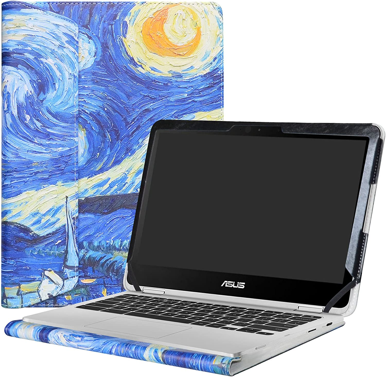 "Alapmk Protective Case Cover for 12.5"" Asus Chromebook Flip C302CA Laptop(Not fit ASUS Chromebook Flip C213SA/C100PA/C101PA/C300SA/C202SA/C201PA),Starry Night"
