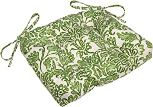 Outdoor Chair Cushions for Dining Chairs, Chair Pads, Tommy Bahama Fabric Cushions Green Batik 2 Pcs
