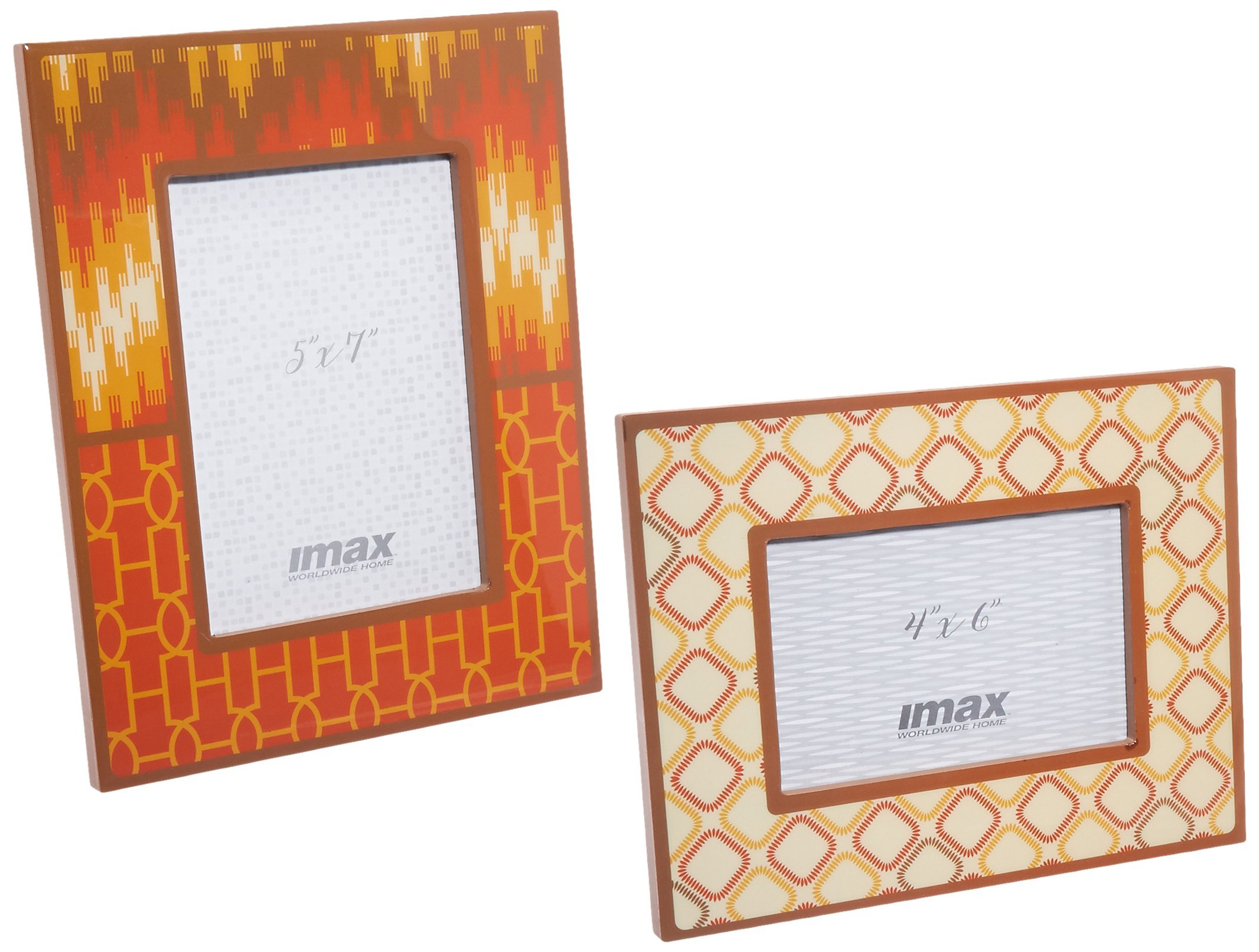 Imax 71121-2 Essentials Energetic Photo Frames (Set of 2), Multicolor