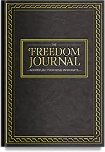 The Freedom Journal, Deluxe Black Hardcover and Non-Dated Notebook, Daily Planner to Achieve Your #1 Goal in 100 Days, Increase Focus and Productivity, Organizer With Exclusive Bonus