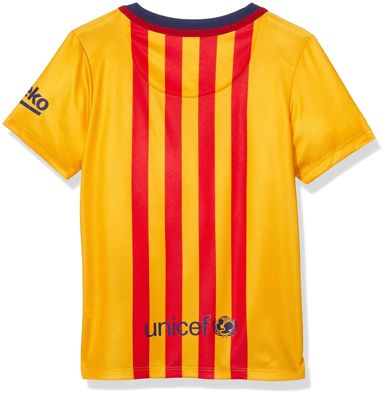 Nike 2015/16 Boys FC Barcelona Away Kit [University Gold]