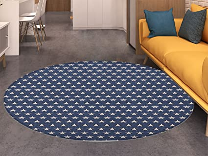 Star Round Area Rug Carpet Patriotic Star of the American Flag Festive  Independence Themed Symbols of b04d3e565f