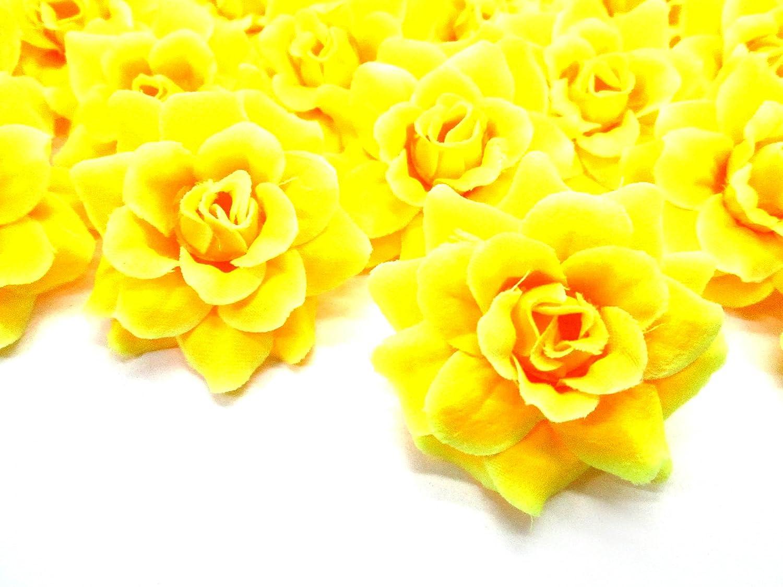 Amazon Silk Yellow Roses Flower Head 175 Artificial