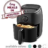 Dash DCAF200GBBK02 Tasti Crisp Electric Air Fryer + Oven Cooker with Temperature Control, Non Stick Fry Basket, Recipe Guide + Auto Shut Off Feature, 2.6Qt, Black