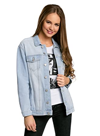 size 40 da498 b3df5 oodji Ultra Donna Giacca in Jeans Oversize