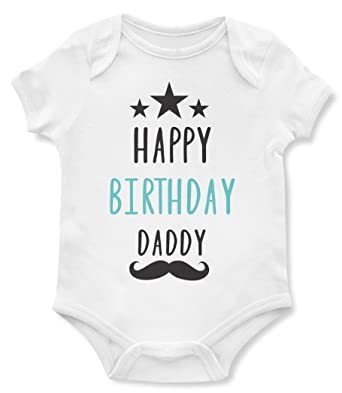 Amazon Emily Gift Birthday Baby Bodysuits Happy Daddy Cute One Piece Gifts For Dad Clothing