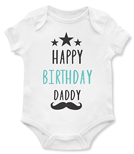 Birthday Baby Bodysuits Happy Daddy Cute One Piece Gifts For Dad