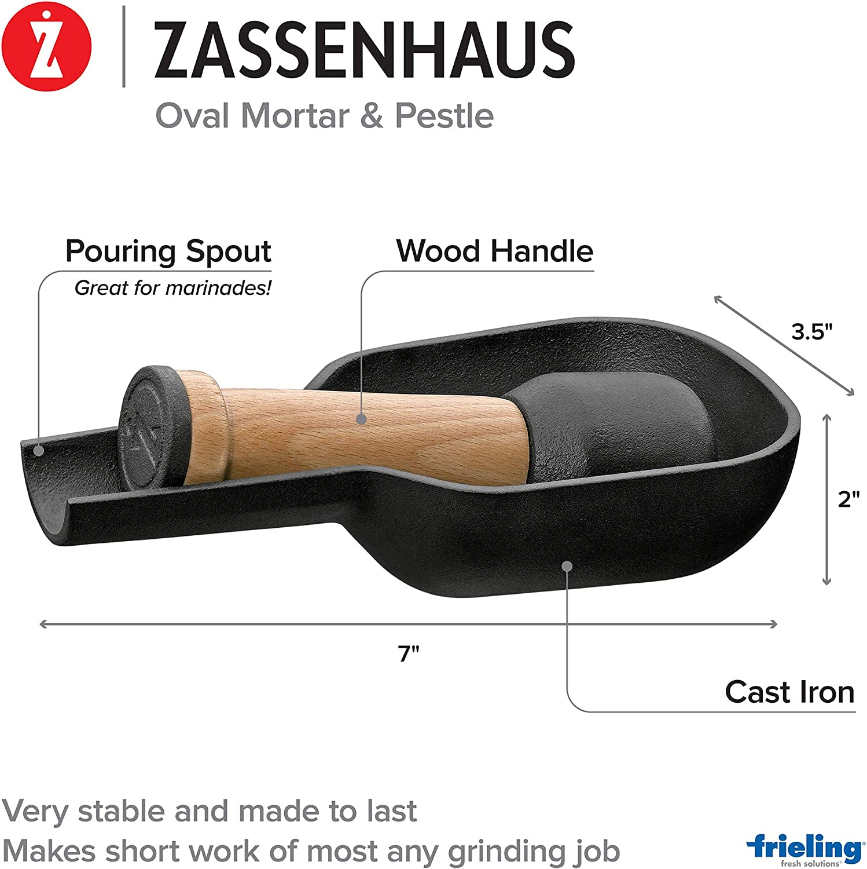 Zassenhaus Mortier XL Ø 15,5 cm en fonte
