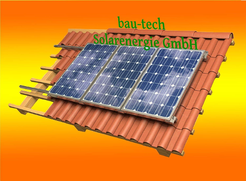 Solar Modul Montage Halterung für 4 Module Rahmenhöhe 40mm für Pfannendach von bau-tech Solarenergie