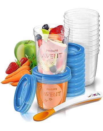 Philips Avent - Juego de recipientes para comida de bebé (20 recipientes + 1 cuchara