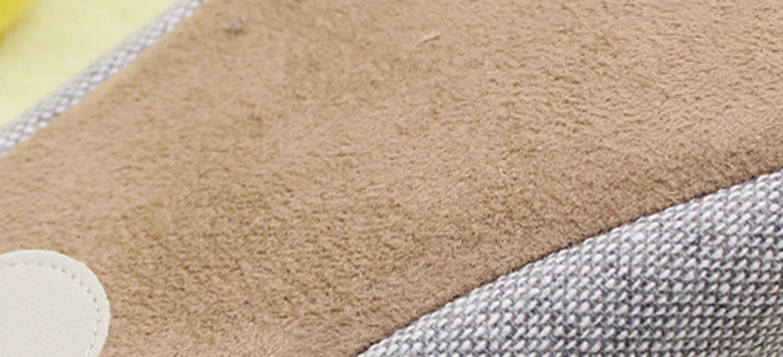 Bronze Times(TM) House Slippers,Womens Coral Fleece Memmory Foam Indoor Footwear,grey,M by Bronze Times (Image #2)