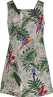 Robert J. Clancey Women's Parrots Monstera Cotton a Line Short Tank Dress