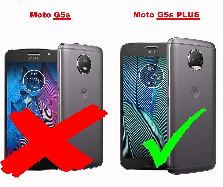 Cadorabo Funda para Motorola Moto G5S Plus en Frosty Azul: Amazon ...
