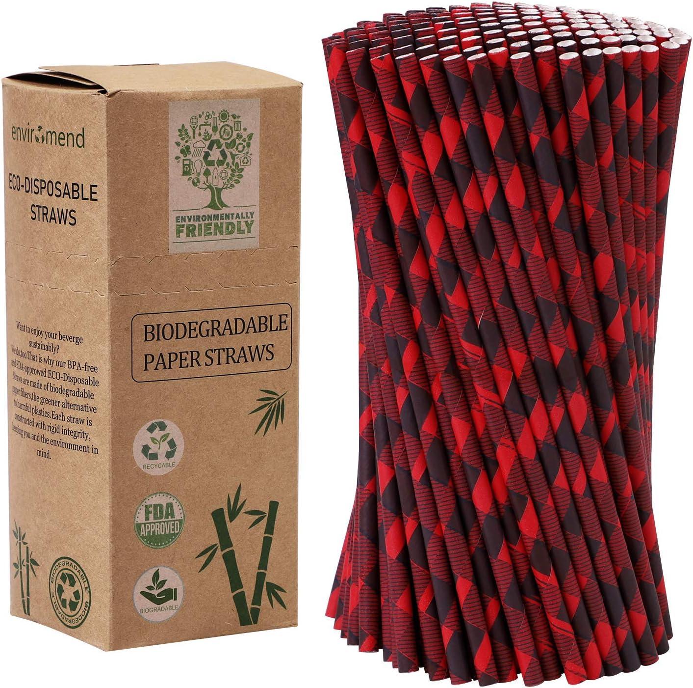 Pajitas de papel biodegradables de Tupa para fiestas de Navidad y ...