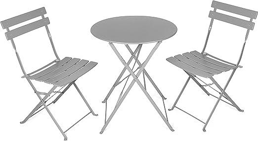 Tavolini E Sedie Da Esterno.Vanage Set Da Balcone Con Tavolino Da Caffe Pieghevole E Sedie