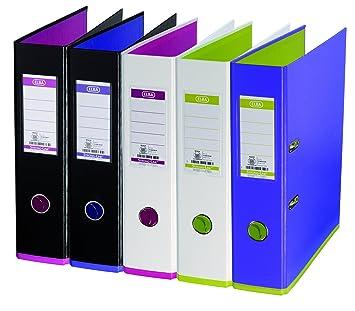 Elba My Color-Juego de archivadores de palanca 10 unidades, colores surtidos: Amazon.es: Oficina y papelería