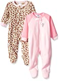 Gerber Baby Girls' 2 Pack Fleece Blanket Sleeper