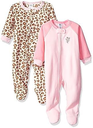 Amazon.com  Gerber Girls  2-Pack Blanket Sleeper  Clothing 57c458307
