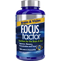 Focus Factor Brain & Vision - Eye Vitamin & Mineral Supplement w/Lutein and Zeaxanthin from AREDS 2 Study (120 Count)
