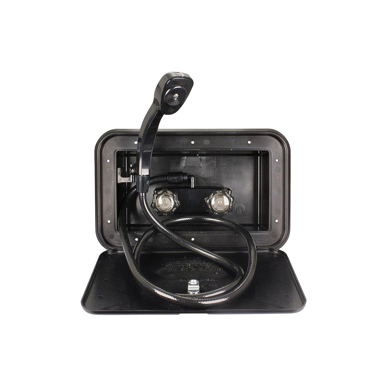 JR Products (5M103-A Black Exterior Shower