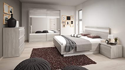 Chambre A Coucher Complete Montreal Scandinave Lit 160x200