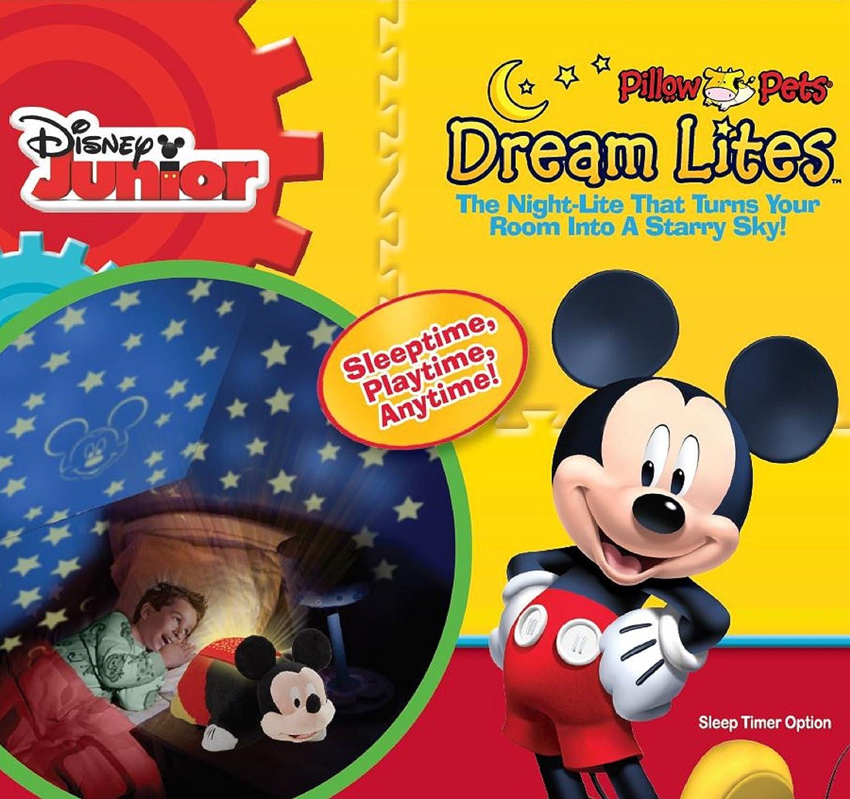 Amazon.com: Disney Mickey Mouse Dream Lite - Pillow Pets Plush Night ...