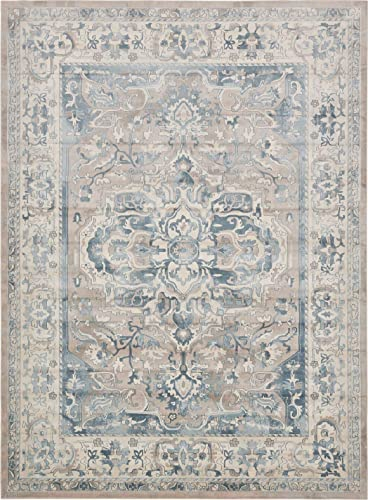 Unique Loom Paris Collection Pastel Tones Traditional Distressed Dark Gray Area Rug 9 0 x 12 0