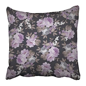 ddf770e924a Emvency Decorative Throw Pillow Covers Cases Pink Flower Beautiful Floral  Pattern Green Vintage Romantic Pretty Rose