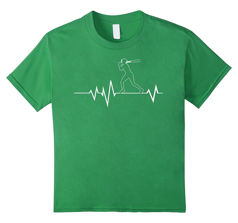 Softball Heartbeat Shirt Girls Royal-Teesml